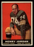 1961 Topps #45  Henry Jordan  Front Thumbnail