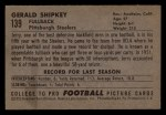1952 Bowman Small #139  Jerry Shipkey  Back Thumbnail