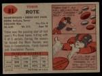 1957 Topps #81  Tobin Rote  Back Thumbnail