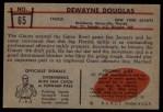 1953 Bowman #65  Dewayne Douglas  Back Thumbnail