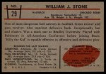 1953 Bowman #29  Billy Stone  Back Thumbnail