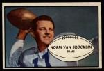 1953 Bowman #11  Norm Van Brocklin  Front Thumbnail