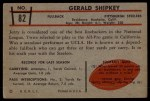 1953 Bowman #82  Jerry Shipkey  Back Thumbnail