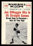 1961 Nu-Card Scoops #438   -   Joe DiMaggio 56 Game Hit Streak Front Thumbnail