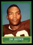1963 Topps #14  Jim Brown  Front Thumbnail