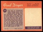 1970 Topps #247  Fred Dryer  Back Thumbnail