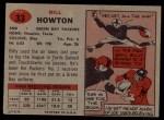 1957 Topps #33  Bill Howton  Back Thumbnail