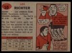 1957 Topps #10  Les Richter  Back Thumbnail