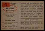 1954 Bowman #14  Fred Enke  Back Thumbnail