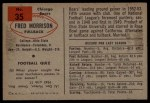 1954 Bowman #35  Fred Morrison  Back Thumbnail