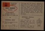 1954 Bowman #88  Dave Hanner  Back Thumbnail