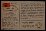 1954 Bowman #46  Fred Cone  Back Thumbnail