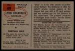 1954 Bowman #49  Lynn Chandnois  Back Thumbnail