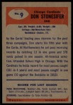 1955 Bowman #9  Don Stonesifer  Back Thumbnail