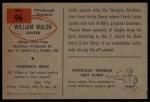 1954 Bowman #96  Bill Walsh  Back Thumbnail