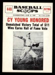1961 Nu-Card Scoops #448   Cy Young   Front Thumbnail