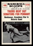 1961 Nu-Card Scoops #446   Hal Newhouser   Front Thumbnail