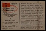 1954 Bowman #14  Fred Enke  Back Thumbnail