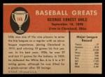 1961 Fleer #146  George Uhle  Back Thumbnail