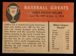 1961 Fleer #99  Jimmy Collins  Back Thumbnail
