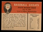 1961 Fleer #103  Joe Dugan  Back Thumbnail