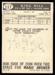 1959 Topps #117  King Hill  Back Thumbnail