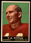 1961 Topps #58  Y.A. Tittle  Front Thumbnail
