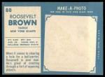 1961 Topps #88  Roosevelt Brown  Back Thumbnail