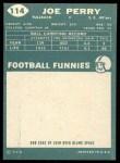 1960 Topps #114  Joe Perry  Back Thumbnail