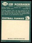 1960 Topps #128  Jim Schrader  Back Thumbnail