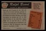 1955 Bowman #206  Ralph Beard  Back Thumbnail