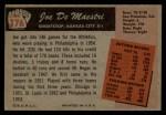 1955 Bowman #176  Joe DeMaestri  Back Thumbnail