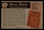 1955 Bowman #155  Gerry Staley  Back Thumbnail