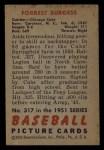 1951 Bowman #317  Smoky Burgess  Back Thumbnail