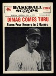 1961 Nu-Card Scoops #467   -   Joe DiMaggio Dimag Comes Thru Front Thumbnail