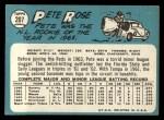 1965 Topps #207  Pete Rose  Back Thumbnail
