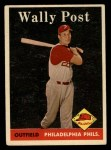 1958 Topps #387  Wally Post  Front Thumbnail