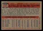 1957 Topps #285  Ned Garver  Back Thumbnail