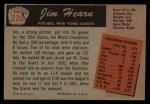 1955 Bowman #220  Jim Hearn  Back Thumbnail