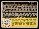 1958 Topps #246   Yankees Team Checklist Front Thumbnail