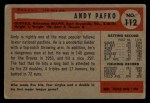 1954 Bowman #112  Andy Pafko  Back Thumbnail
