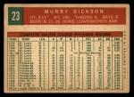 1959 Topps #23  Murry Dickson  Back Thumbnail