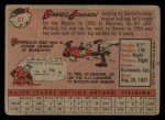 1958 Topps #61 YN Darrell Johnson  Back Thumbnail