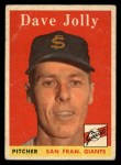 1958 Topps #183  Dave Jolly  Front Thumbnail