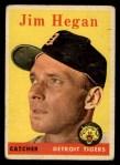 1958 Topps #345  Jim Hegan  Front Thumbnail