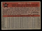 1958 Topps #479   -  Nellie Fox All-Star Back Thumbnail