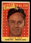 1958 Topps #479   -  Nellie Fox All-Star Front Thumbnail