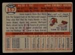1957 Topps #157  Wally Post  Back Thumbnail