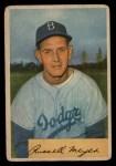 1954 Bowman #186  Russ Meyer  Front Thumbnail