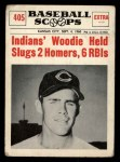 1961 Nu-Card Scoops #405  Woodie Held  Front Thumbnail